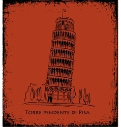 Piza tower travel concept vector