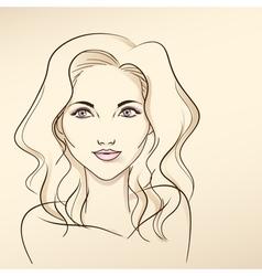 Portrait of woman in pastel tones3 vector image vector image
