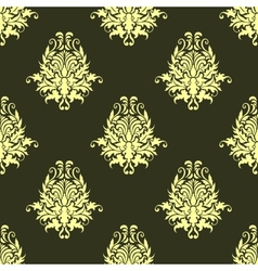 Retro yellow or light olive seamless pattern vector