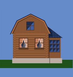 rustic country wooden house vector image