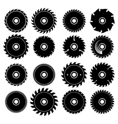 Set of different circular saw blades vector image
