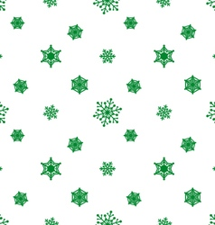 Snowflake green white background vector