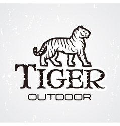 Tiger logo mascot design template shop or vector
