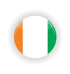 Ivory coast icon circle vector
