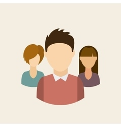 People avatars community group vector