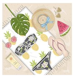 Summer fashion accessories set vector image