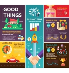 Good things - poster brochure cover template vector