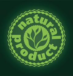 Logo printing brand natures product vector