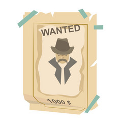 wanted vintage western poster vector image