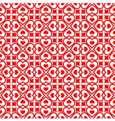 Festive seamless of red hearts vector