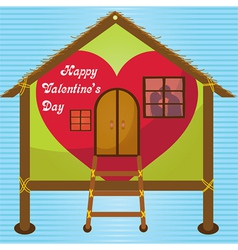 Happy valentines day cards kissing on window vector