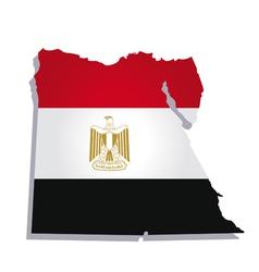 Egypt africa map flag vector