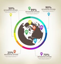 Infographic global design elements vector