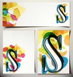 Artistic Greeting Card Letter S vector image