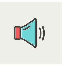 Medium speaker volume thin line icon vector