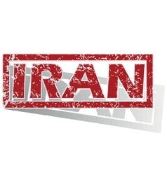 Iran outlined stamp vector