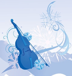 Retro violin winter vector