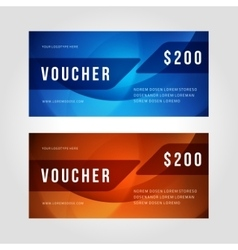 Voucher template abstract waves design vector