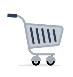 shopping trolley cart color flat icon vector image