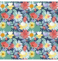 Abstract natural spring seamless pattern vector