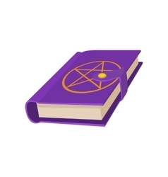 Book with a star in a circle on the cover icon vector