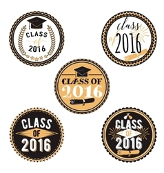 Badges for graduation event party high vector