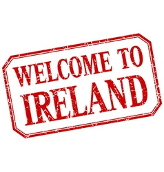 Ireland - welcome red vintage isolated label vector