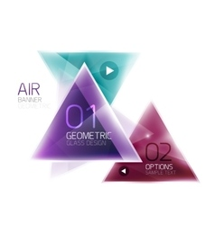 Air triangle abstract background vector