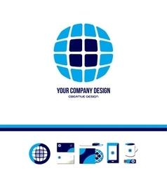 Technology tech globe logo vector