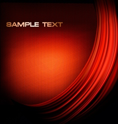 red neon background with curves vector image
