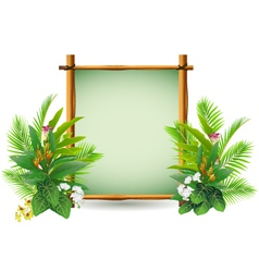 Beauty decoration with tropical plant vector