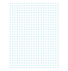 Blue full page centimeter dot paper vector