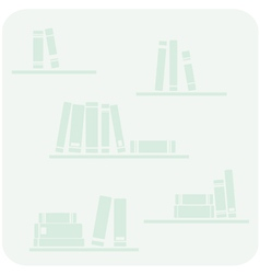 Books on the shelves hipster mint green button vector image