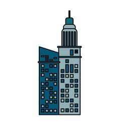 building architecture hotel skyscraper vector image