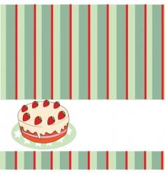 cake menu vector image vector image