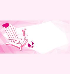 christmas at beach adirondack beach chair vector image