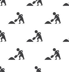 construction works seamless pattern vector image
