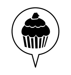 Cupcake pictogram icon image vector