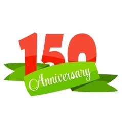 Cute template 150 years anniversary sign vector