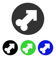 erection flat icon vector image