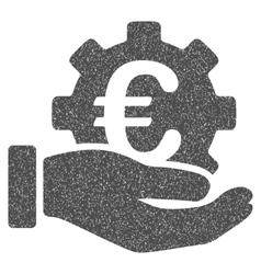 Euro Development Service Hand Grainy Texture Icon vector image