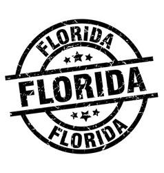 Florida black round grunge stamp vector