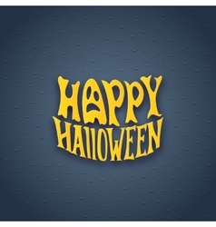 Halloween card with modern lettering style sign vector