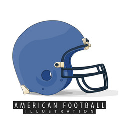 helmet for american football vector image vector image