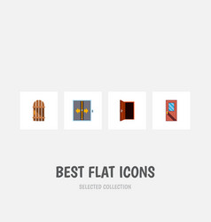 icon flat approach set of elevator frame vector image vector image