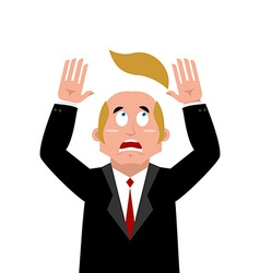 Man and wig scared businessman lost their hair vector