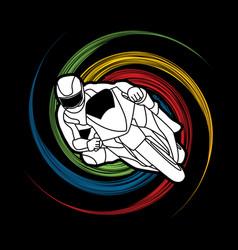Motorcycle racing graphic vector