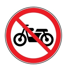 no motocycle sign vector image vector image
