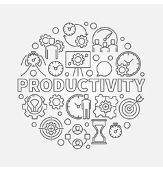 Productivity line round vector image vector image