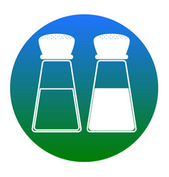 Salt and pepper sign white icon in bluish vector